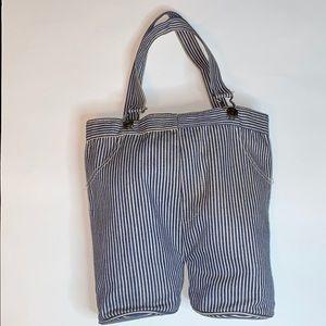 Vintage overall pinstripe shoulder bag